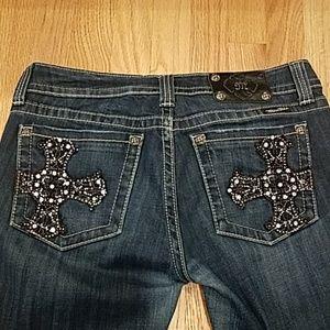 GUC Miss Mee Cross Skinny Jeans